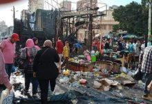 صورة نيران الكهرباء تلتهم اكشاك محطة مصر بالإسكندرية