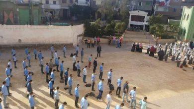 صورة مدرسة الشهيد هيكل الثانوية بشباس الملح تضرب مثلا بالالتزام بالإجراءات الاحترازية