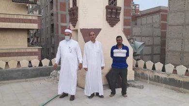 صورة مدير اوقاف الرمل بالاسكندرية وجولة مرورية لمتابعة تنظيف أسطح المساجد.
