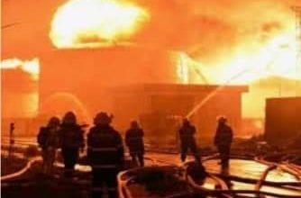 صورة اندلاع حريق هائل شمال فرنسا.