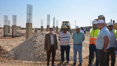 صورة محافظ الوادي الجديد يتفقد مشروع مجمع المصالح الحكومية المميكن بالخارجة