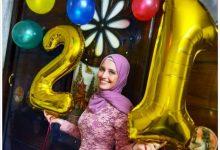 صورة تهنئة قلبية ممزوجة بالورود للصحفية أميرة محمد