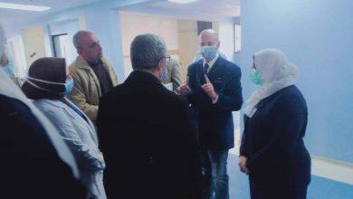 صورة مرور وكيل وزارة الصحة بالشرقية علي مستشفي بلبيس المركزي