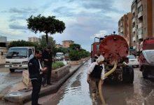صورة رفع مياة الامطار ومخلفاتها ومواجهة الطقس السيئ بمركز ومدينة دسوق .